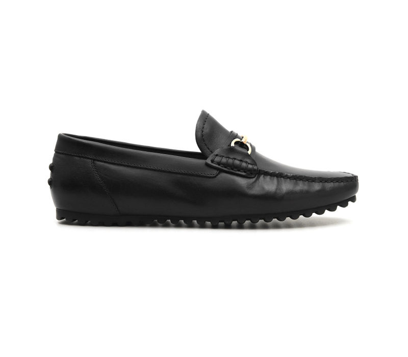 Dual Tone Moccasins with Metal Embellishment