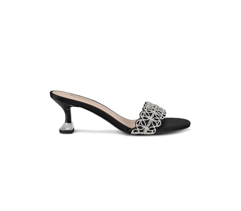 Black Top Embellished Heels