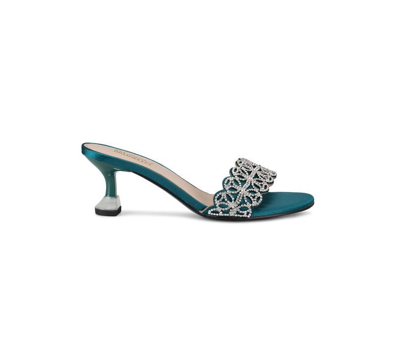 Green Top Embellished Heels