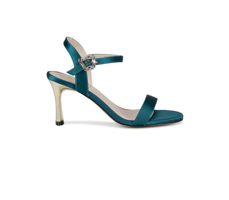Green Ankle Strap Stiletto Heels