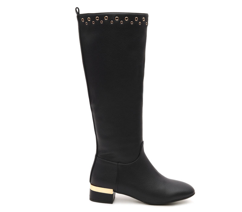 Knee Length Boots With Rivets