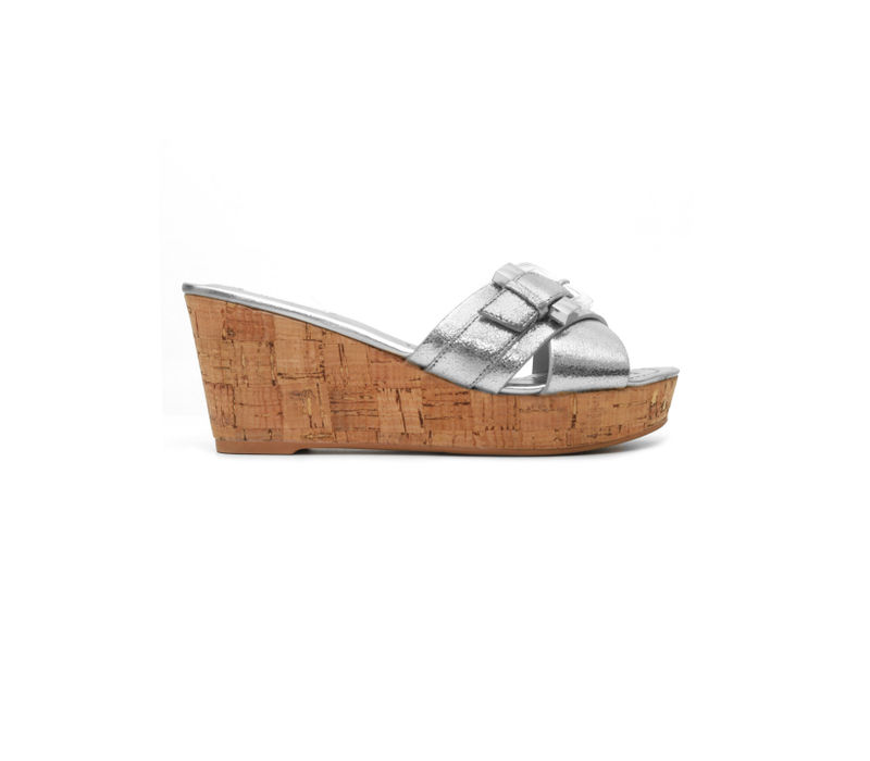 Silver Criss Cross Wedges