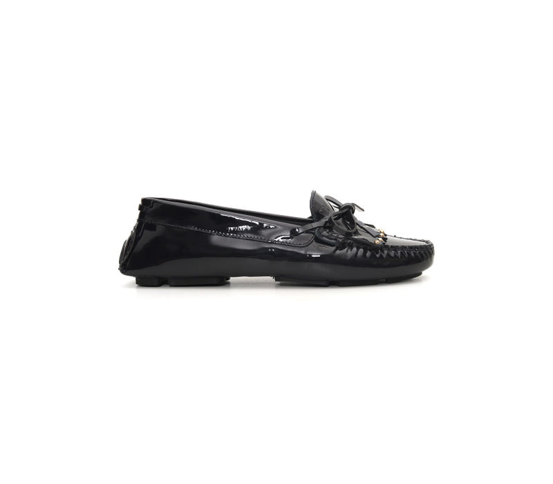 Patent Bow Moccasin