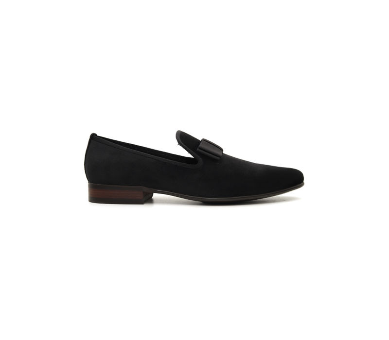 Suede Loafers With Bow
