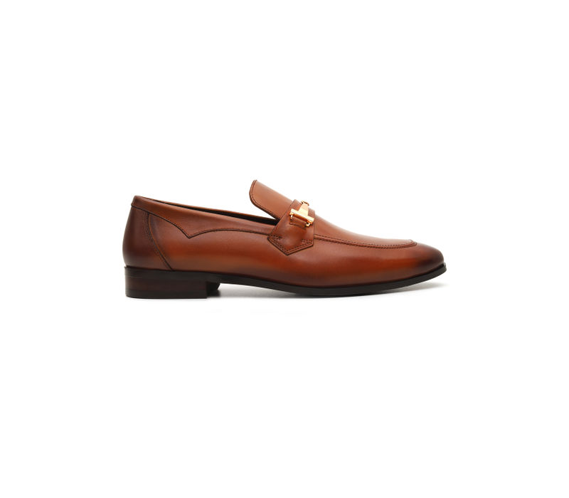 Dual Tone Penny Buckle Loafers