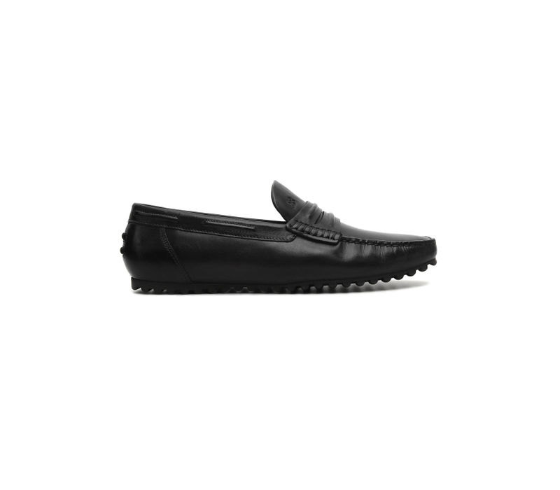 Plain Black Moccasins
