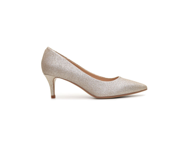 Shimmery Golden Heels