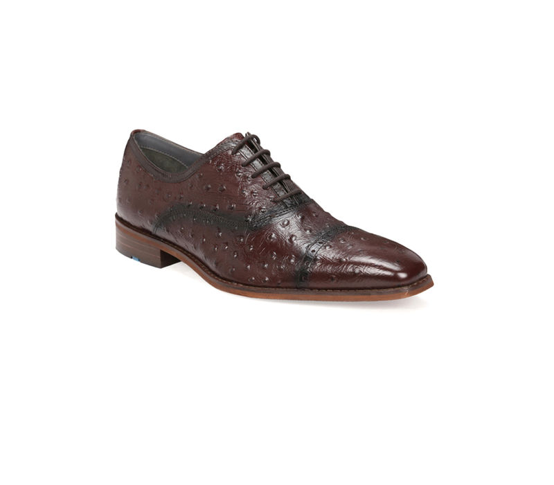Semi-formal shoes with Ostrich print