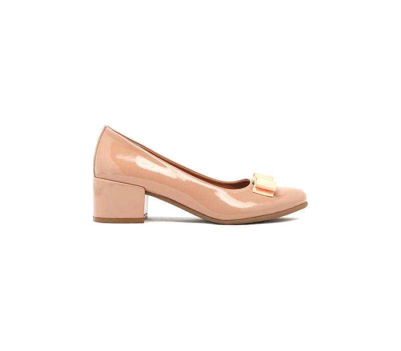 Blush Block Heels