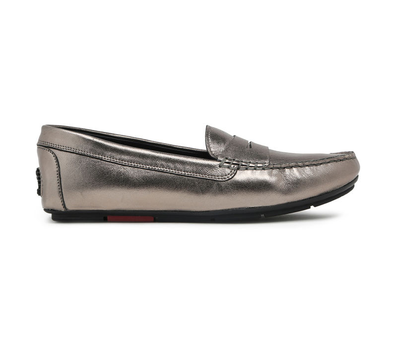 Women's Driving Shoes- Gun Metal