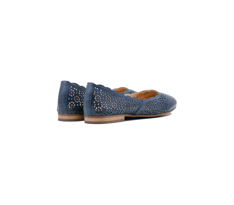 Blue Casual Slip-ons