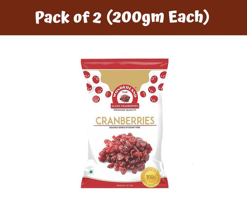 Dried Sliced Cranberries 400gm (200gm x 2)