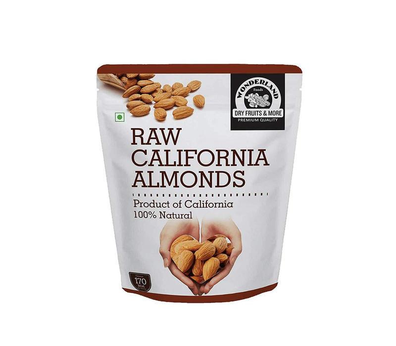 Wonderland Foods Raw California Almonds, 500g