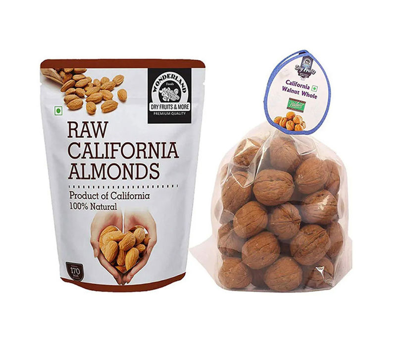 California Almonds 500gm & Inshell Walnuts 500gm