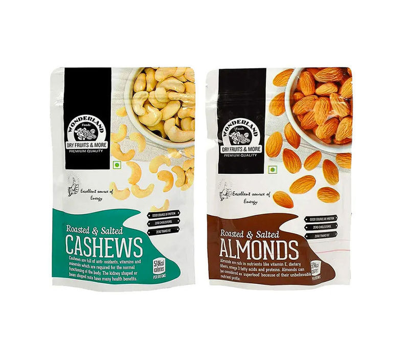 Roasted & Salted Almonds 200gm & Cashews 200gm