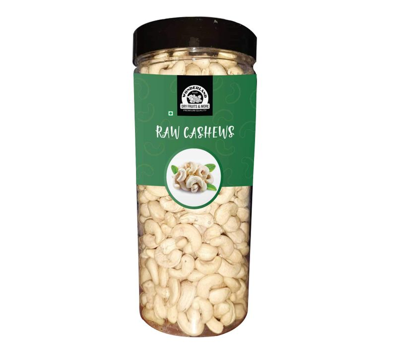 Wonderland Foods Plain Raw Cashews Nuts 500 grams (w400) (400 Pieces in a Pound)