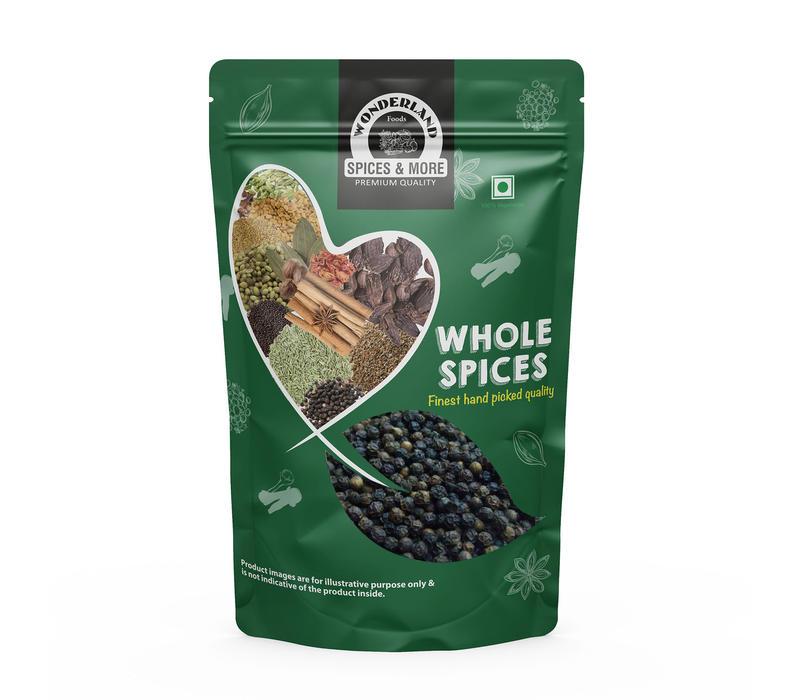 Wonderland Foods Whole Black Pepper 250g