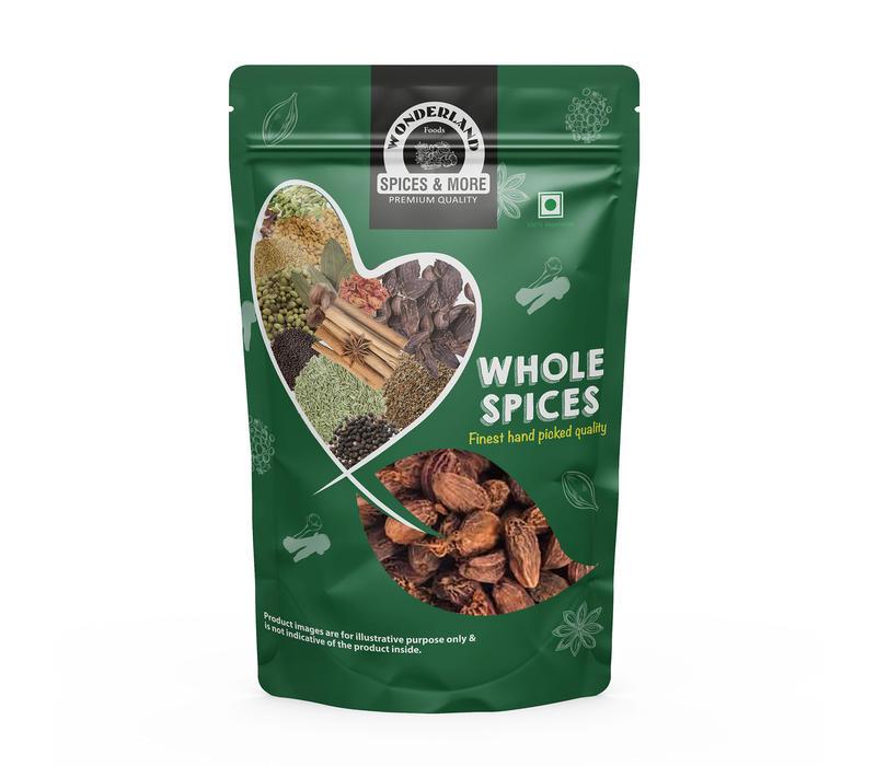 Wonderland Foods Premium Quality Whole Black Cardamom (Badi Elaichi) 250 gm