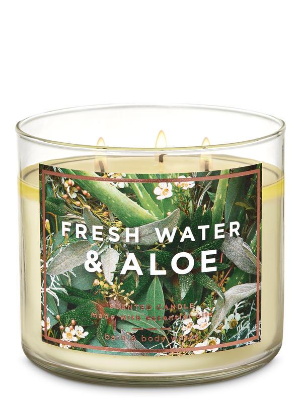 Fresh Water & Aloe 3-Wick Candle