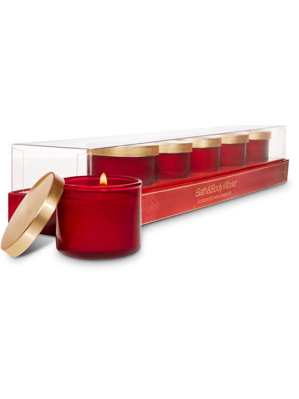 Mahogany Teakwood 6 Mini Candles