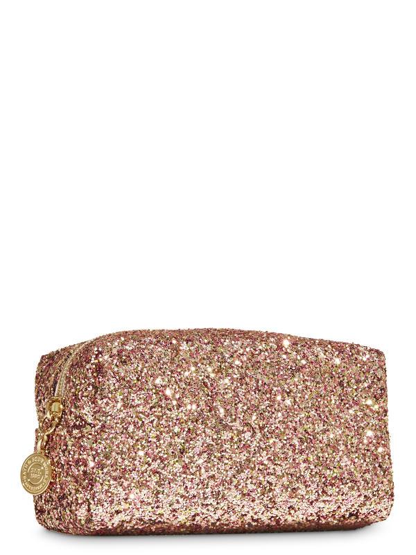 Rose Gold Glitter Cosmetic Bag