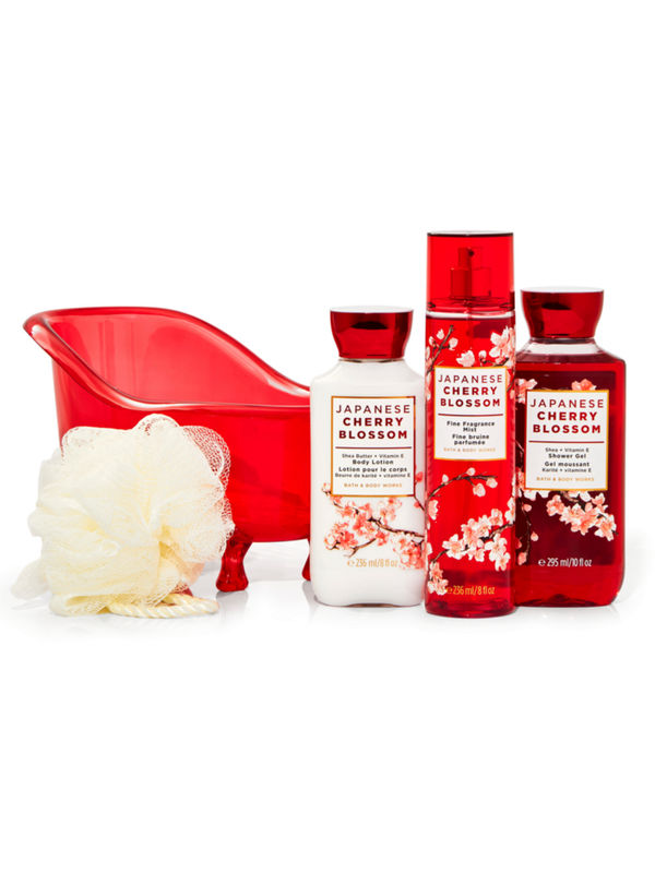 Japanese Cherry Blossom Bathtub Gift Set