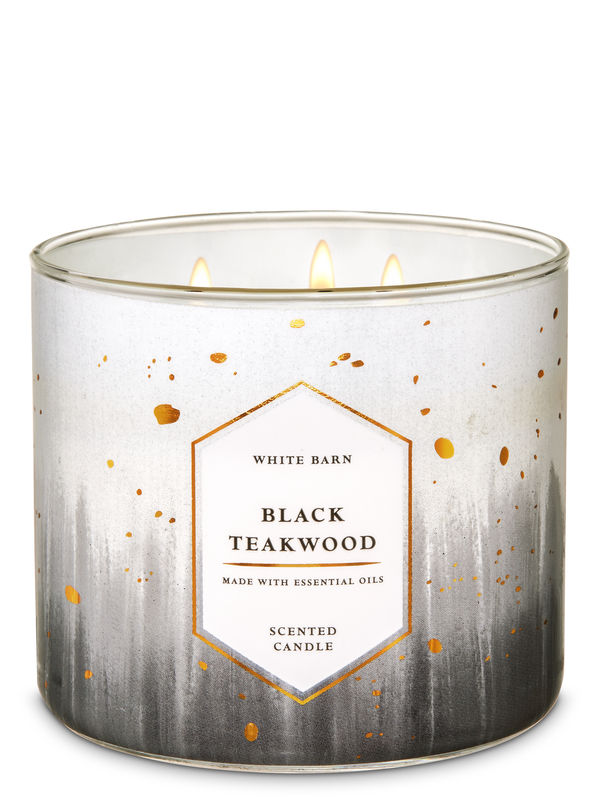 Black Teakwood 3-Wick Candle