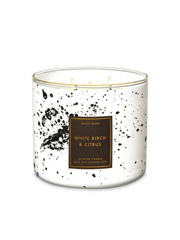 White Birch & Citrus 3-Wick Candle