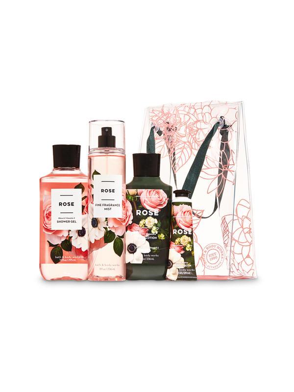 Rose Floral Gift Bag Set