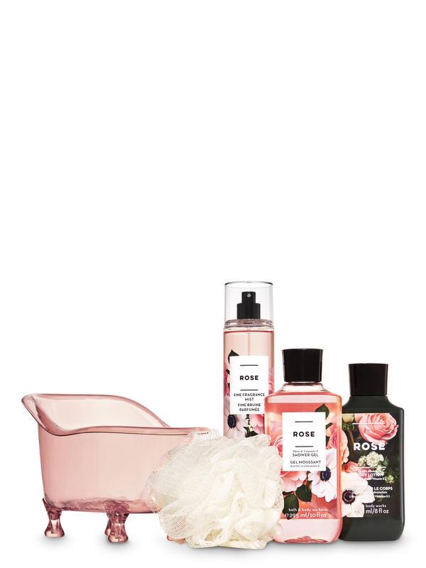 Rose Bathtub Gift Set