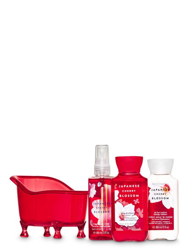 Japanese Cherry Blossom Bathtub Gift Set