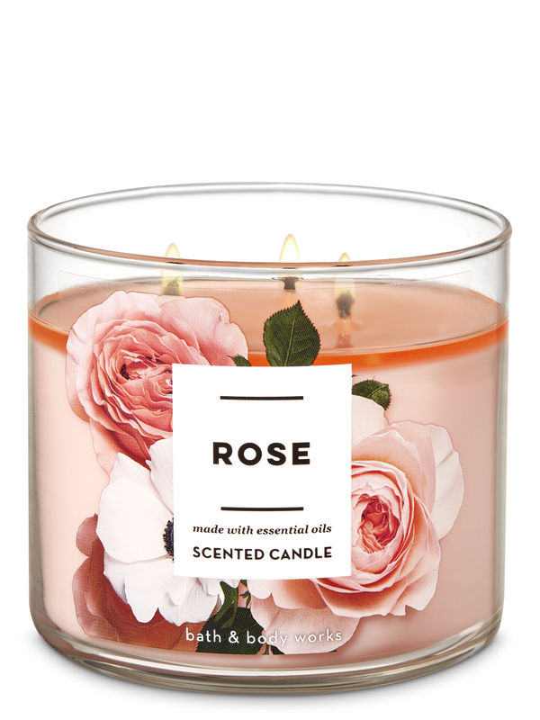 Rose 3-Wick Candle