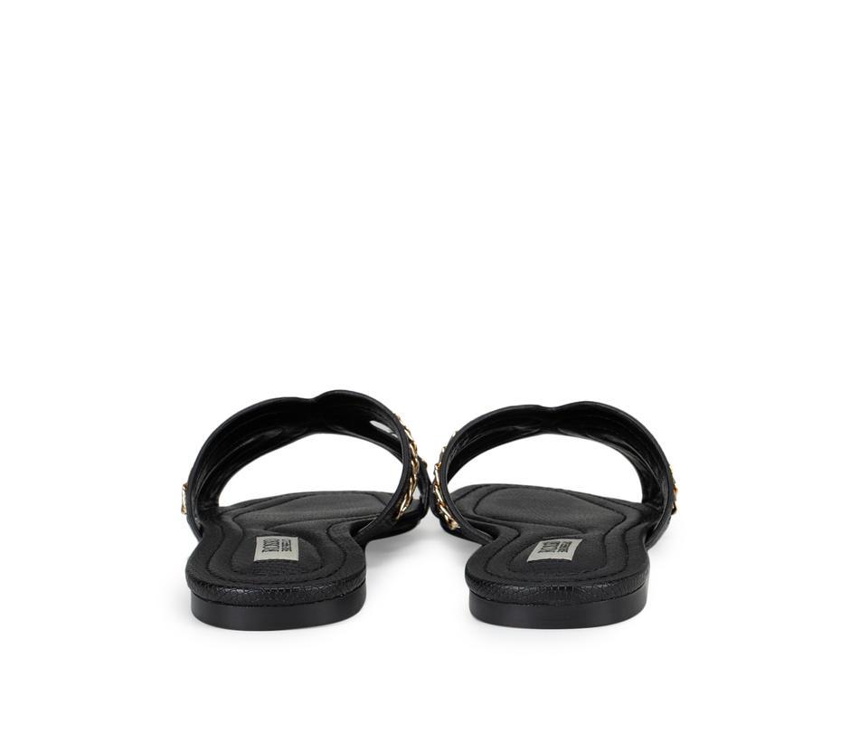 Black Chain Embellished Flats