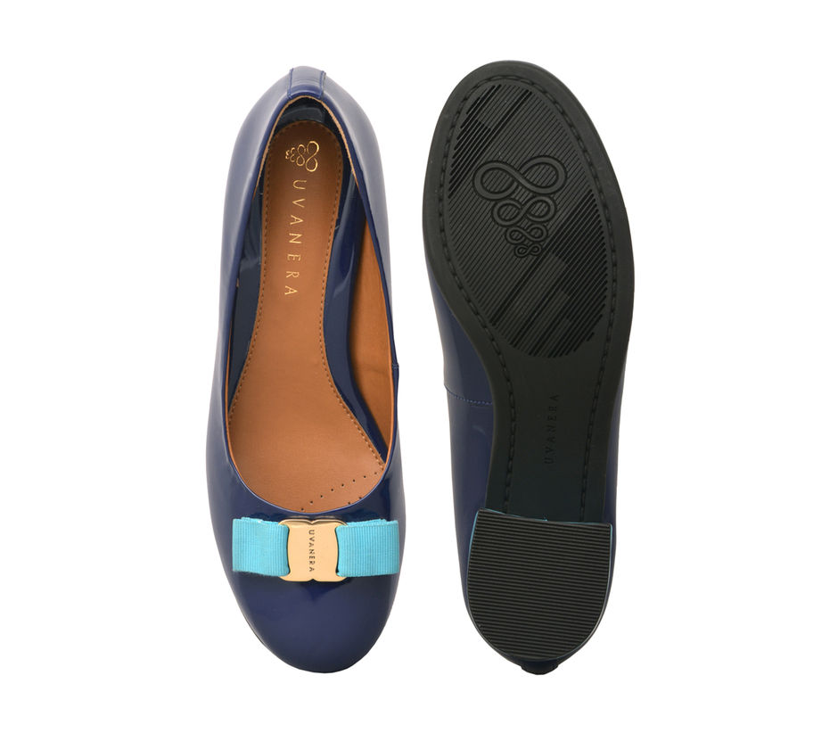 Blue Block Heels