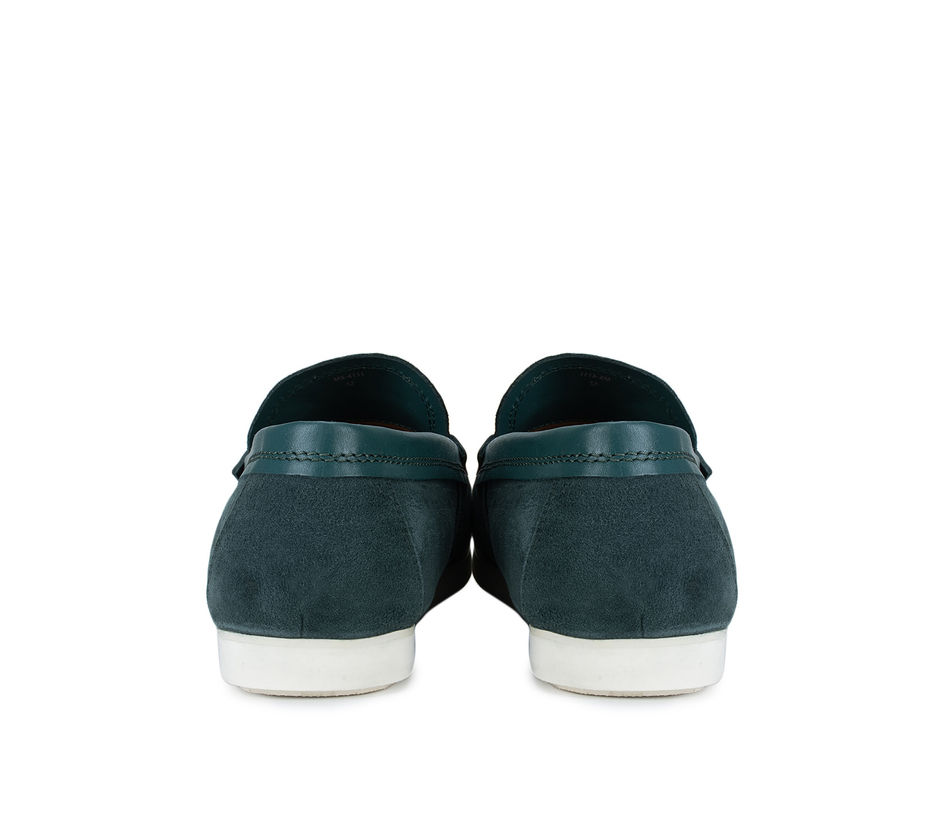Green Suede Moccasins