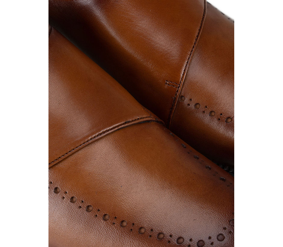 Tan Monk Straps with Detailing