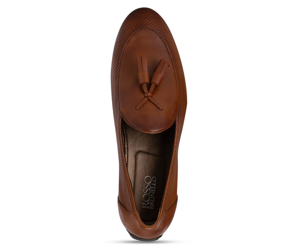 Tan Moccasins with Tassels