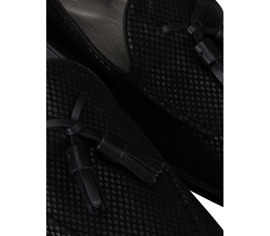 Black Loafers With Tassels