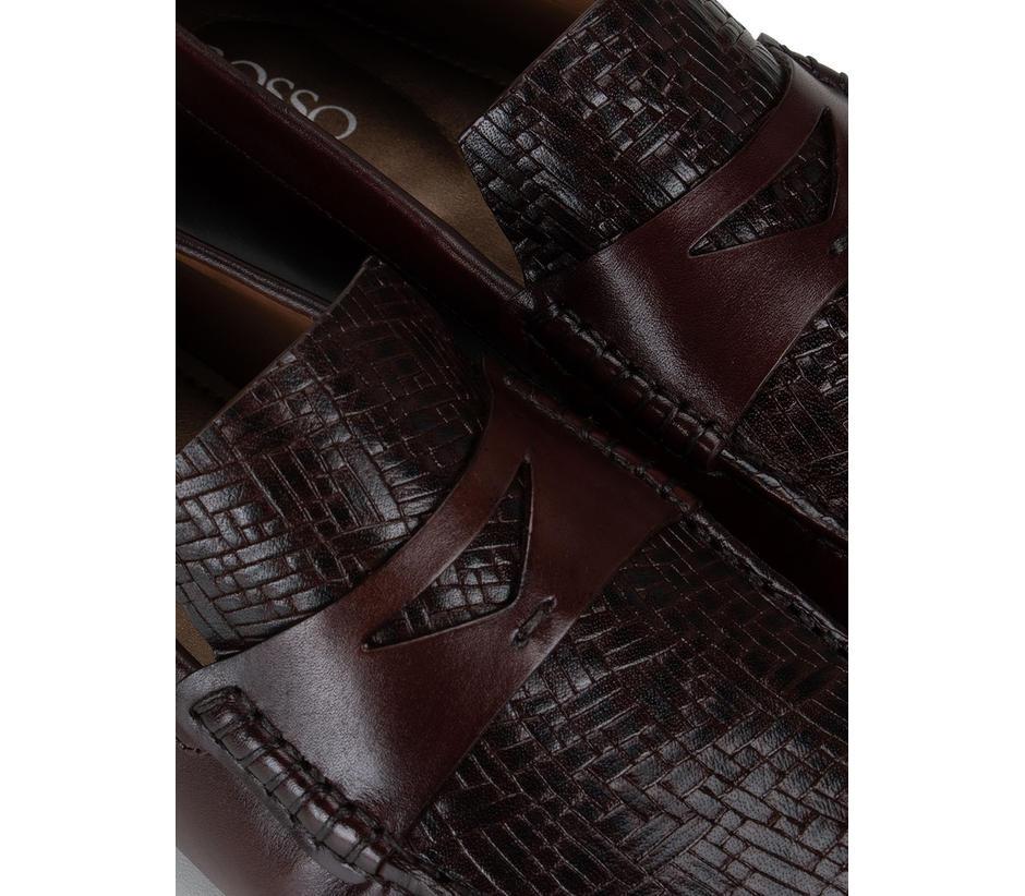 Brown Textured Top Moccasins