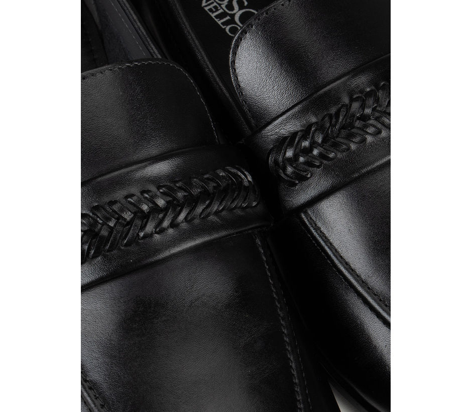Black Plain Loafers