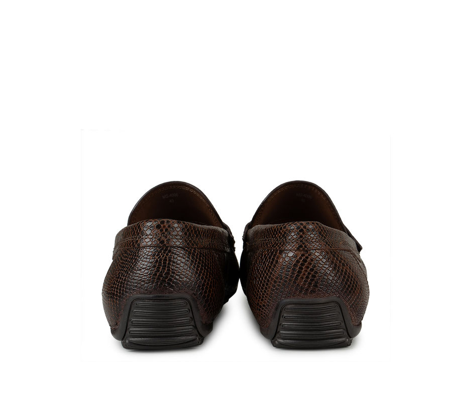 Coffee Textured  Moccasins