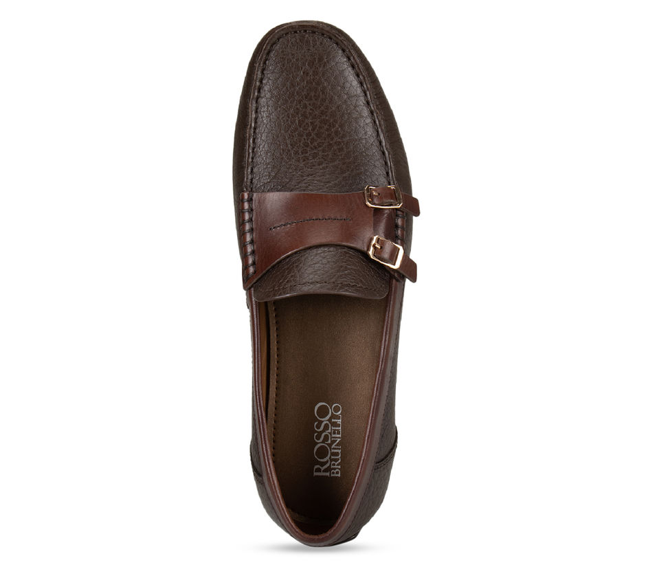 Coffee Monk Strap Style Moccasins