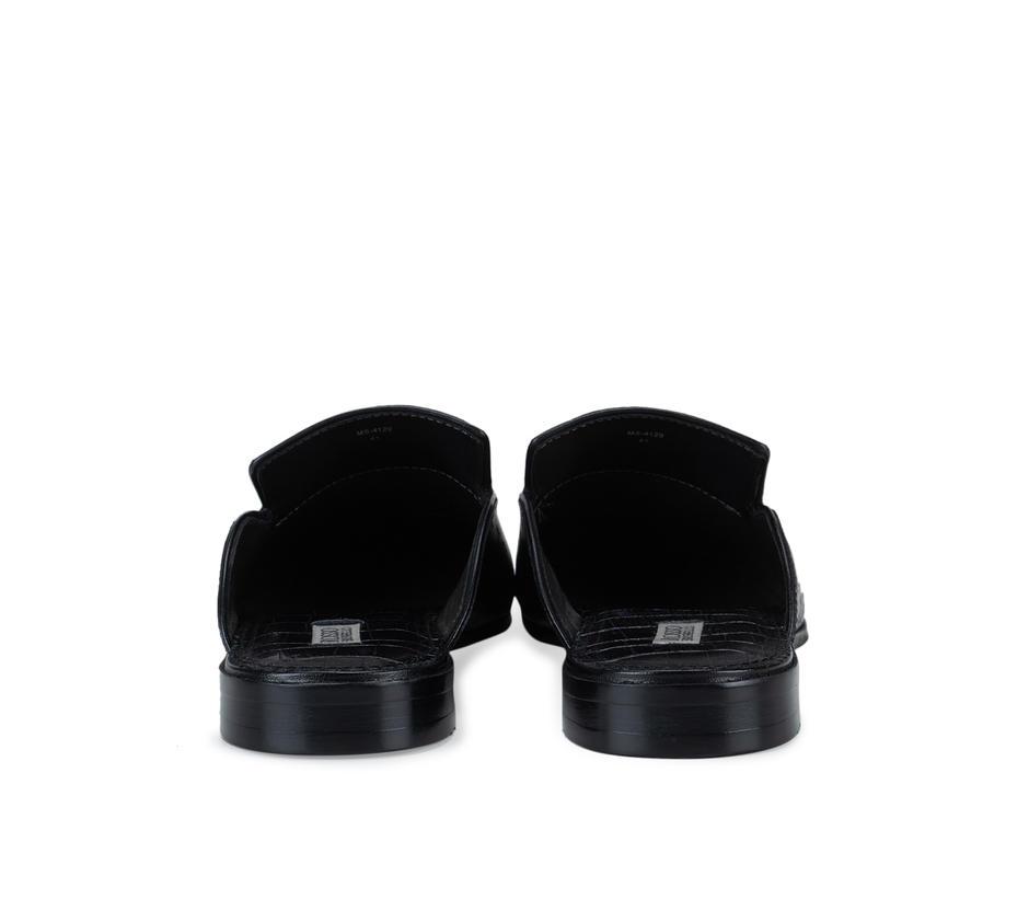 Black Signato Leather Mules
