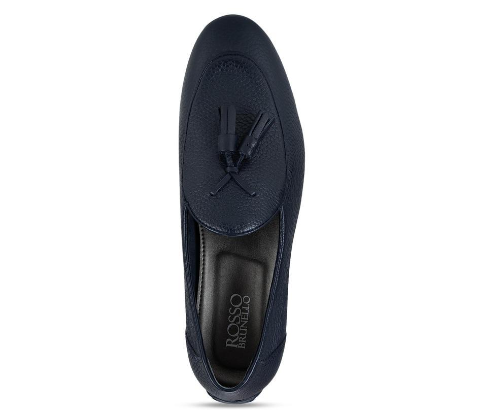 Blue Tassel Loafers