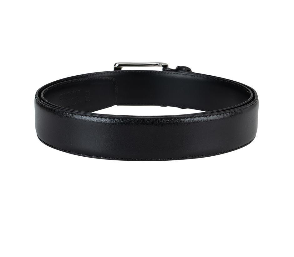 Black Plain Leather Belt
