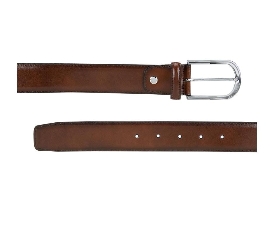 Tan Plain Leather Belt