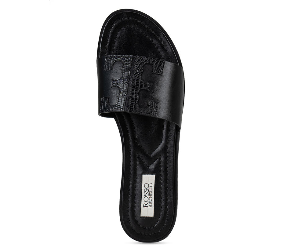 Black Plain Sliders