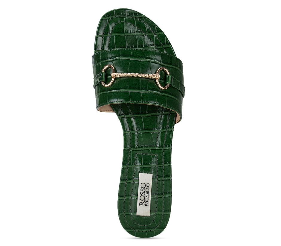 Green Embellished Sliders