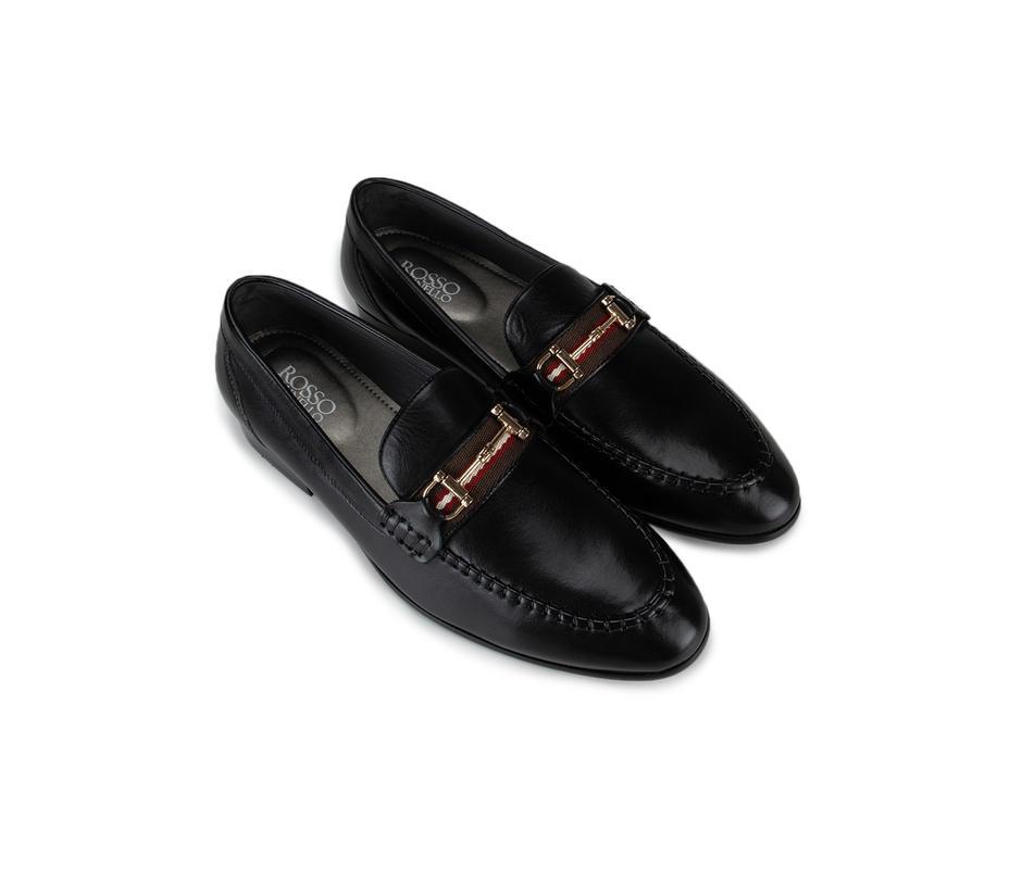 Black Embellished Loafers