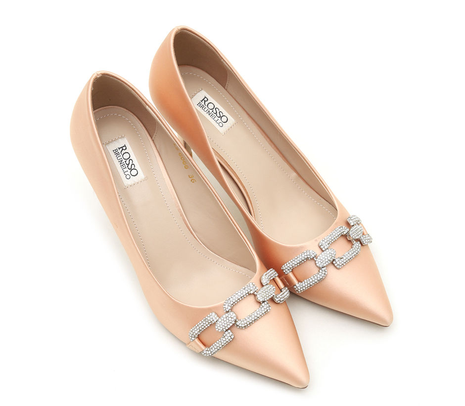 Embellished Pointed Toe Heels